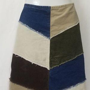 D mode corduroy skirt